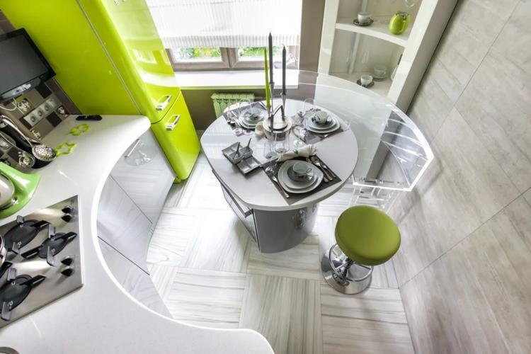 Кухня 10 кв.м. в стиле хай-тек - Дизайн интерьера