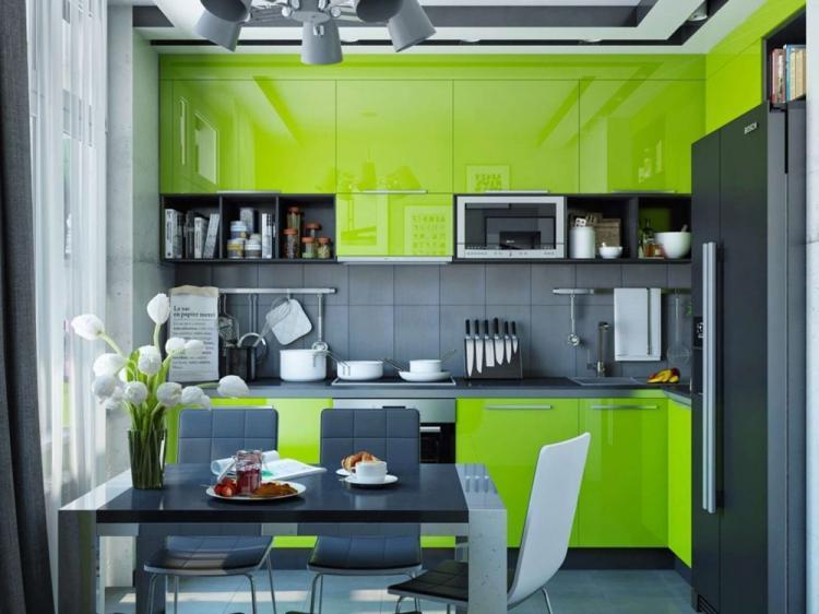 Зеленая кухня 10 кв.м. - Дизайн интерьера