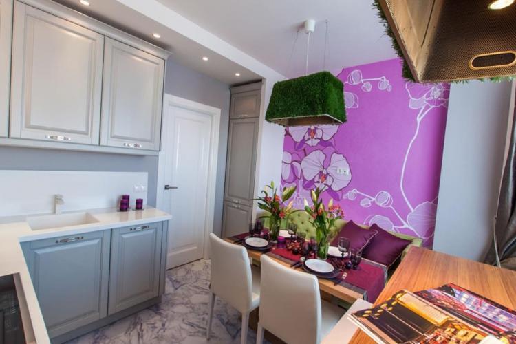 Отделка стен - Дизайн кухни 10 кв.м.