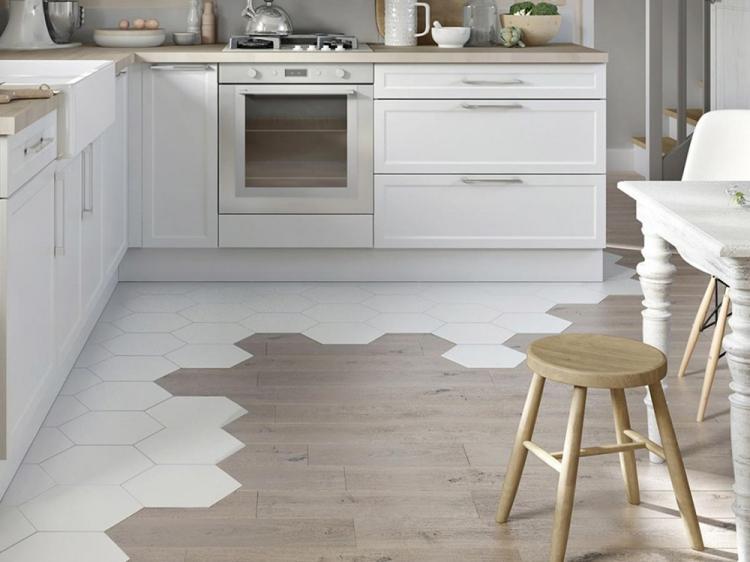 Отделка пола - Дизайн кухни 10 кв.м.