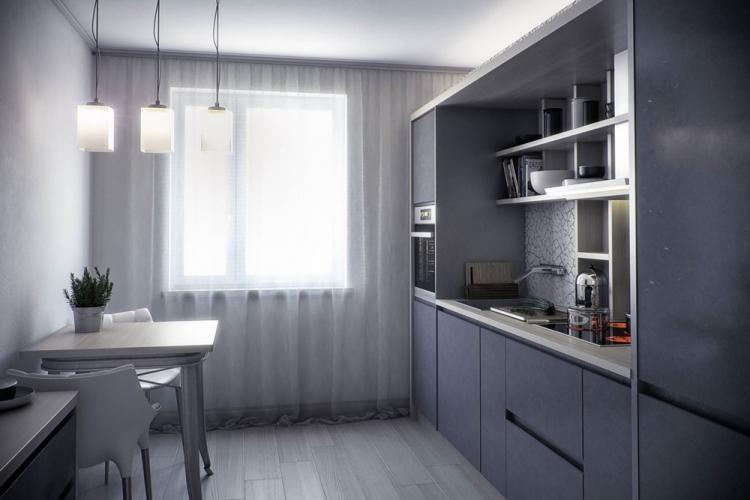 Дизайн кухни 10 кв.м. - фото реальных интерьеров
