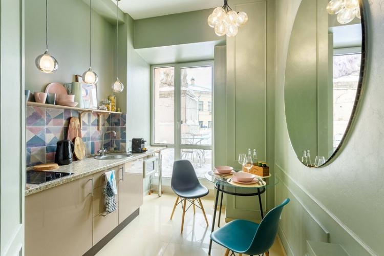 Цвет - Дизайн кухни 12 кв.м.