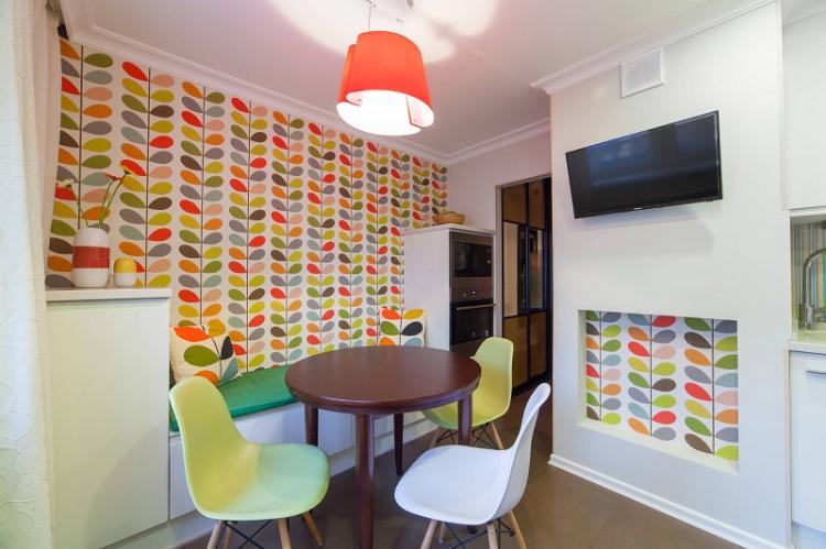 Отделка стен - Дизайн кухни 12 кв.м.