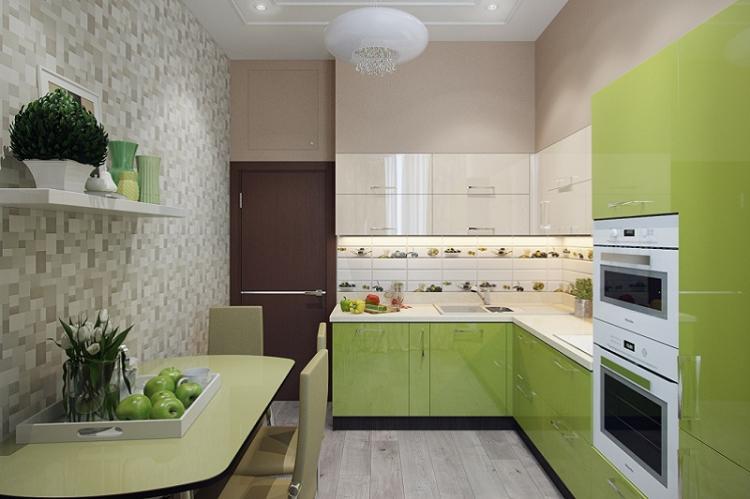 Визуальное увеличение пространства - Дизайн кухни 12 кв.м.