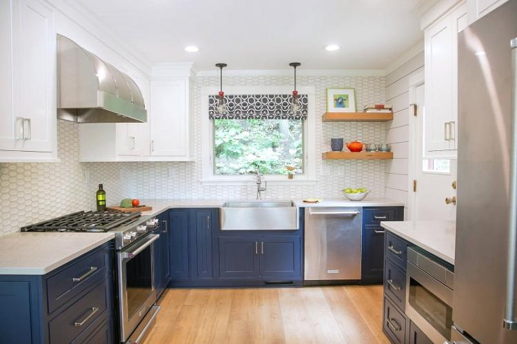 Правильное оформление окна - Дизайн кухни 12 кв.м.