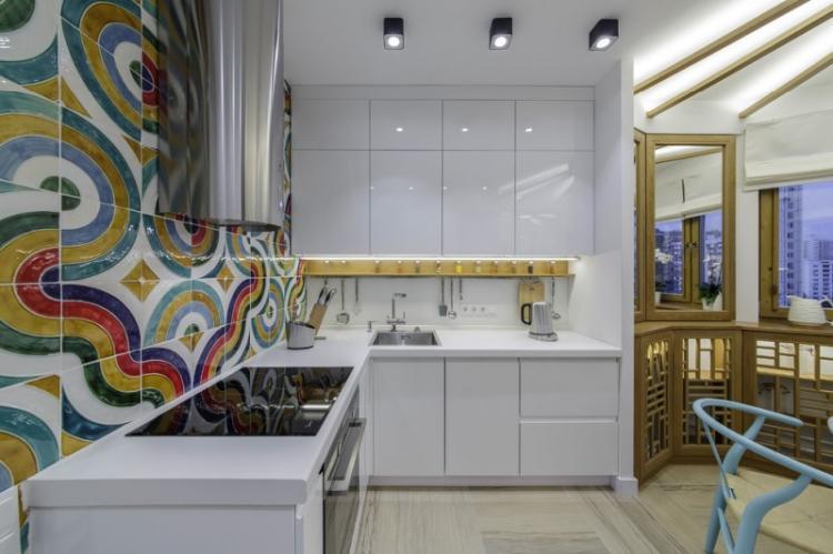 Кухня 13 кв.м. в стиле поп-арт - Дизайн интерьера