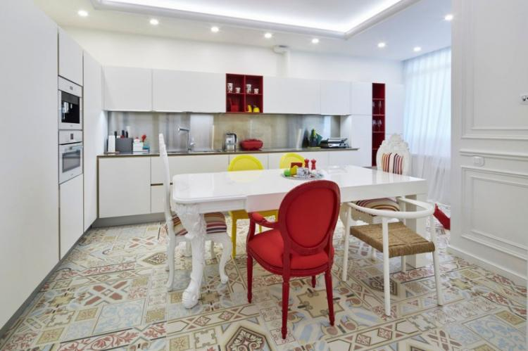 Кухня 13 кв.м. в стиле фьюжн - Дизайн интерьера