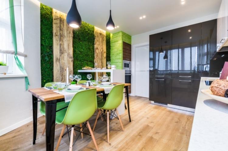 Кухня 13 кв.м. в эко-стиле - Дизайн интерьера