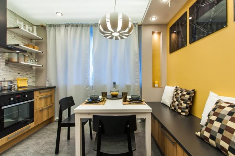 Отделка стен - Дизайн кухни 13 кв.м.