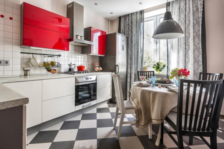 Текстиль - Дизайн кухни 13 кв.м.