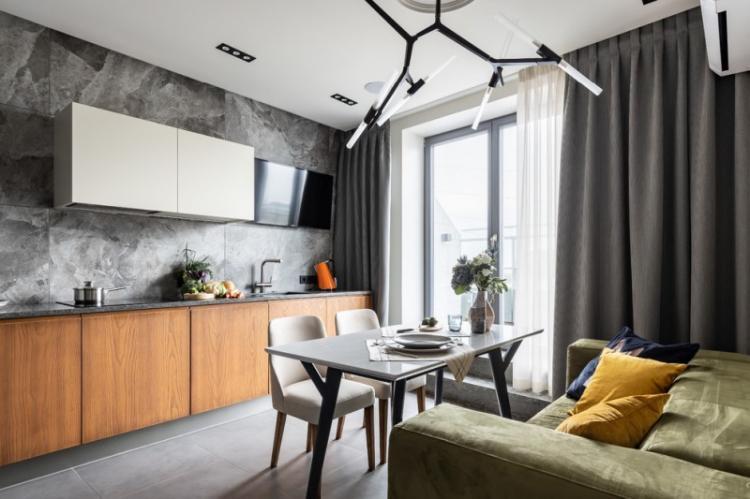 Дизайн кухни 13 кв.м. - фото реальных интерьеров