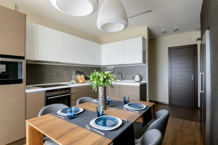 Кухня 14 кв.м. в современном стиле - Дизайн интерьера