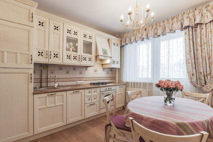 Кухня 14 кв.м. в стиле прованс - Дизайн интерьера