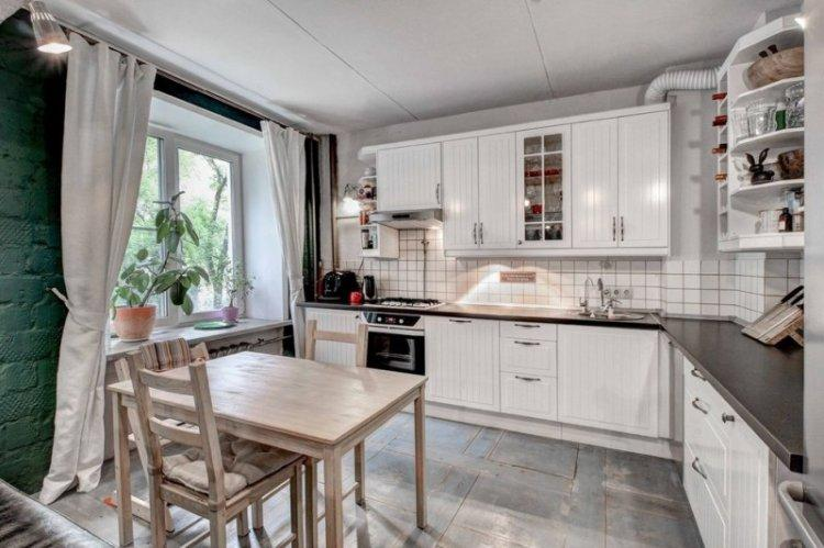 Кухня 14 кв.м. в скандинавском стиле - Дизайн интерьера