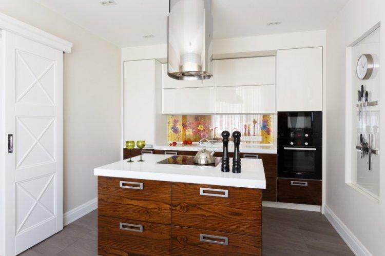 Белая кухня 14 кв.м. - Дизайн интерьера