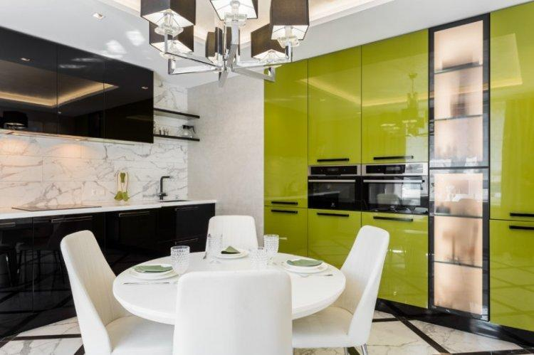 Зеленая кухня 14 кв.м. - Дизайн интерьера