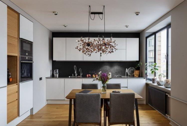 Отделка потолка - Дизайн кухни 14 кв.м.