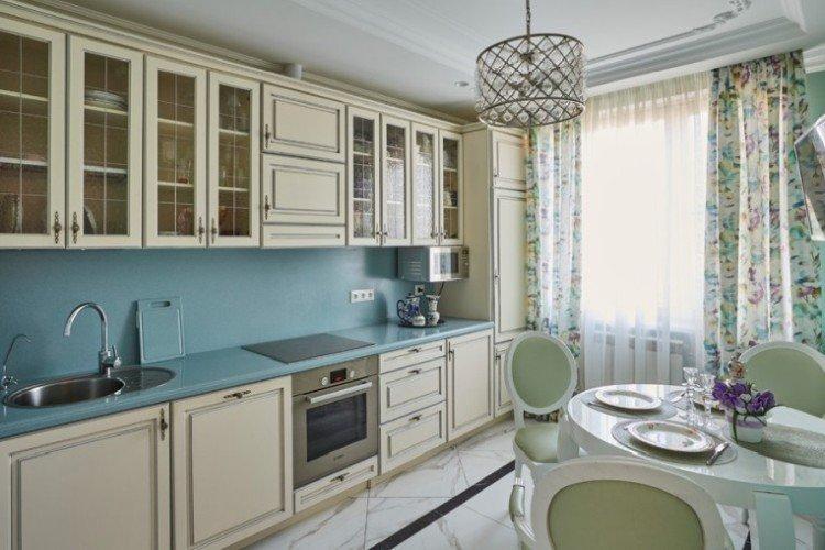 Текстиль - Дизайн кухни 14 кв.м.