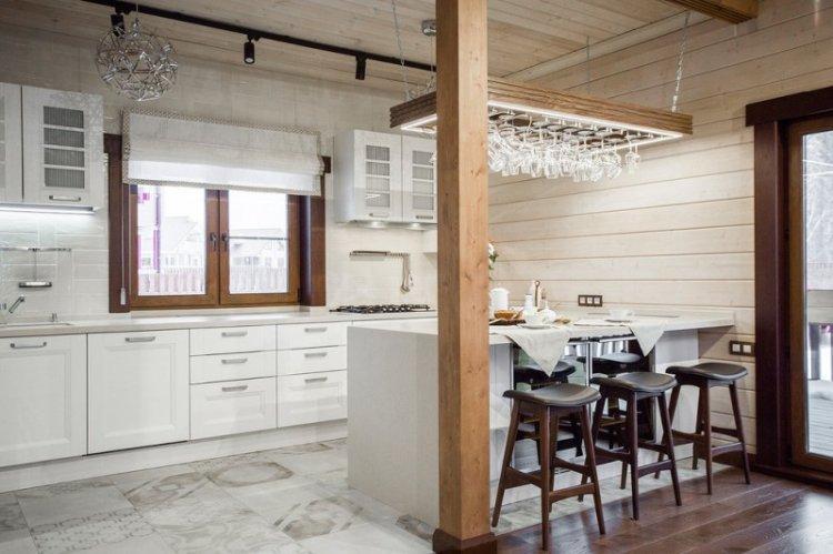 Освещение и подсветка - Дизайн кухни 14 кв.м.