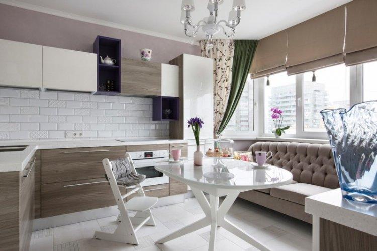 Кухня 14 кв.м - дизайн интерьера фото