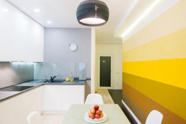 Кухня 3 на 4 в стиле современном стиле - Дизайн интерьера