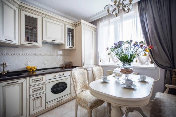 Кухня 3 на 4 в классическом стиле - Дизайн интерьера