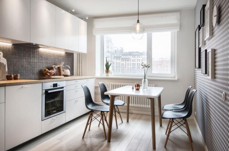 Кухня 3 на 4 в скандинавском стиле - Дизайн интерьера