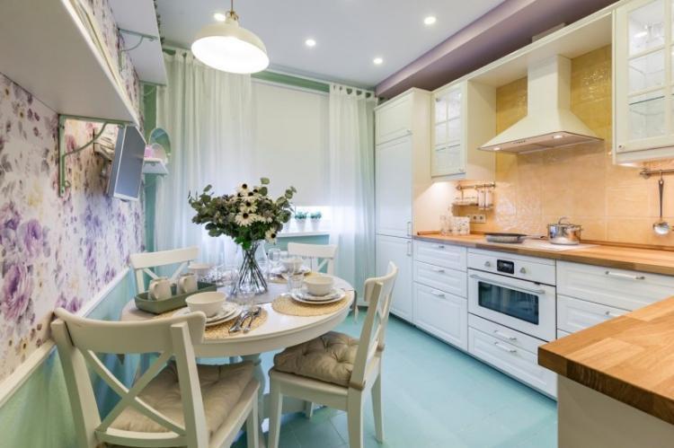Кухня 3 на 4 в стиле прованс - Дизайн интерьера