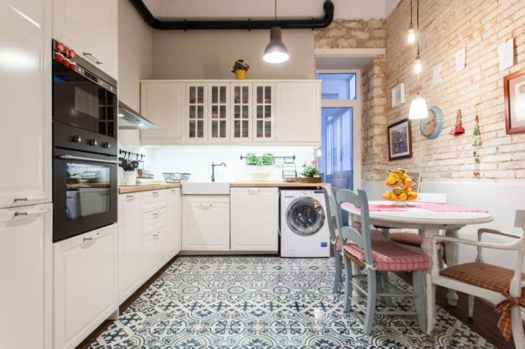 Кухня 3 на 4 в стиле лофт - Дизайн интерьера