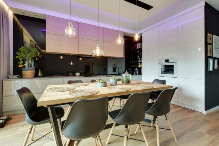 Черная кухня 3 на 4 - Дизайн интерьера