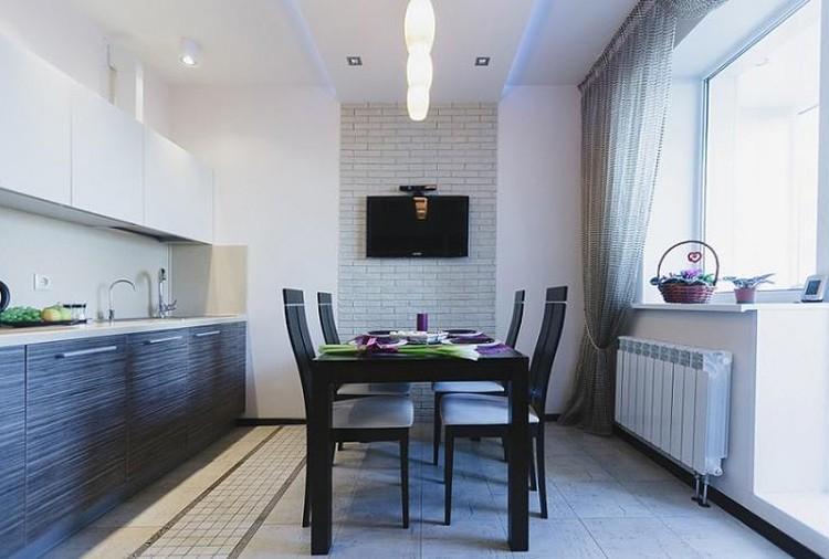 Отделка потолка - Дизайн кухни 3 на 4