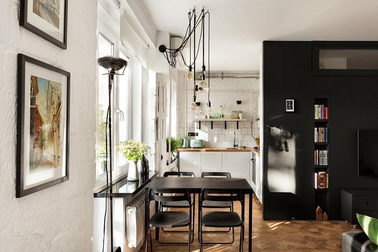 Кухня 6 кв.м. в стиле лофт - Дизайн интерьера