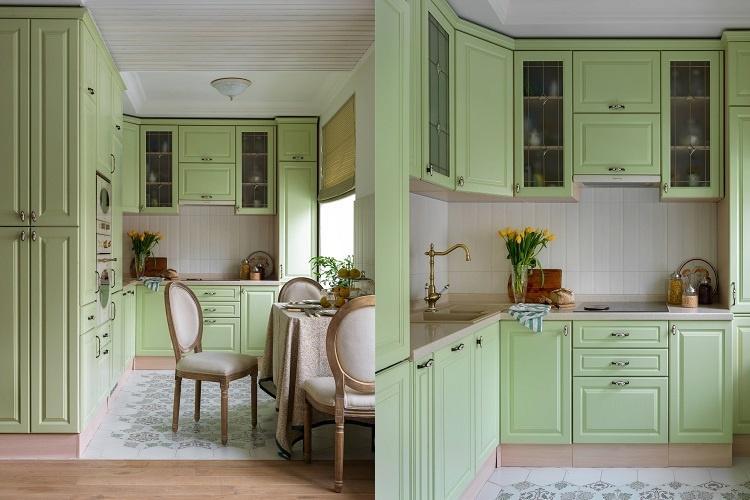 Зеленая кухня 6 кв.м. - Дизайн интерьера