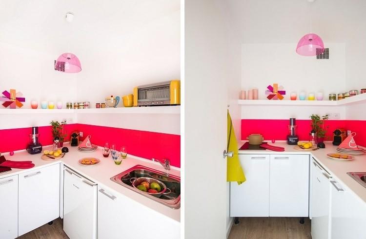 Розовая кухня 6 кв.м. - Дизайн интерьера