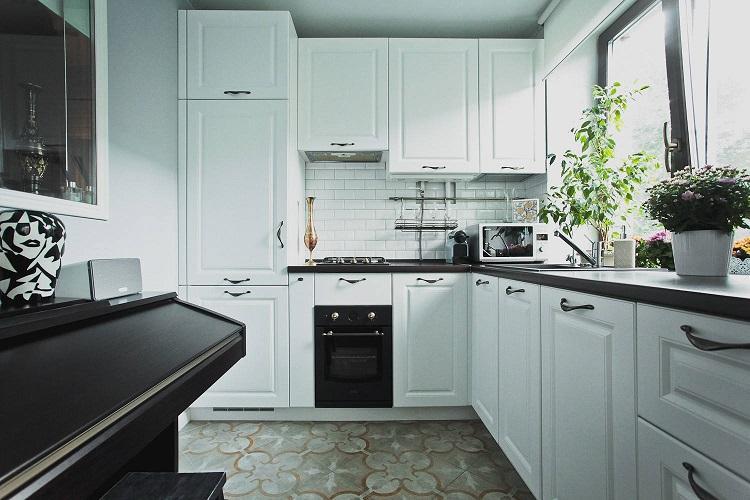 Отделка пола - Дизайн кухни 6 кв.м.