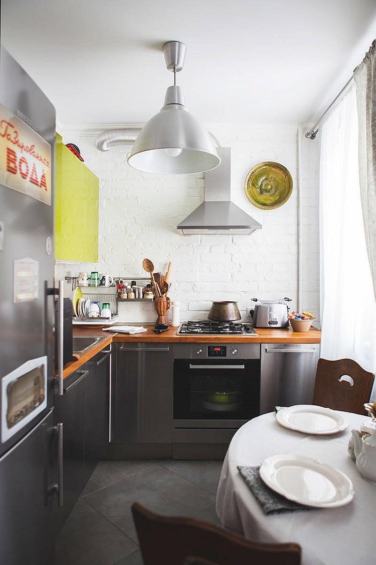Отделка потолка - Дизайн кухни 6 кв.м.