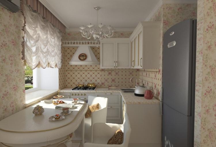 Кухня 7 кв.м. в стиле прованс - Дизайн интерьера