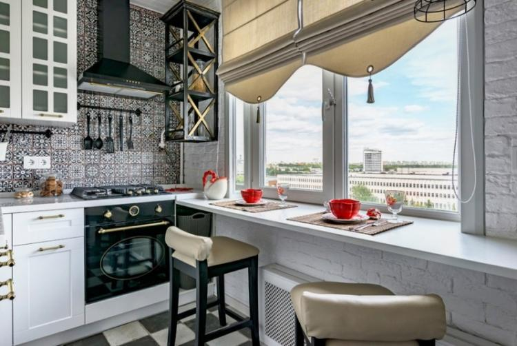 Кухня 7 кв.м. в стиле бохо - Дизайн интерьера
