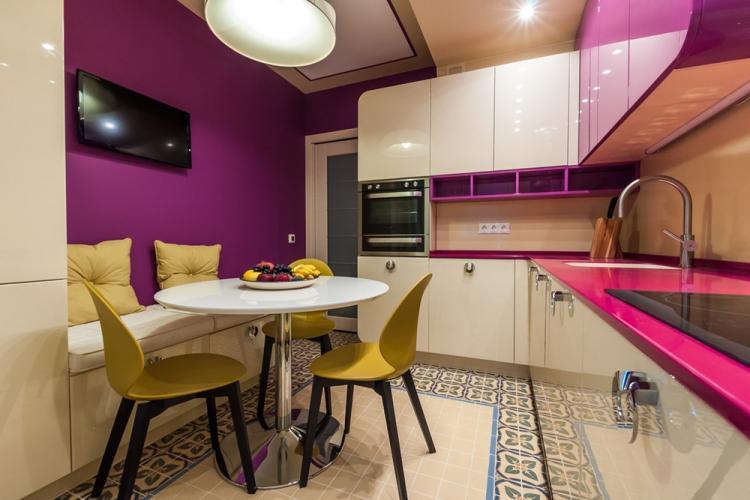 Отделка пола - Дизайн кухни 7 кв.м.