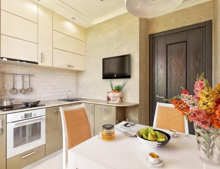 Отделка стен - Дизайн кухни 7 кв.м.