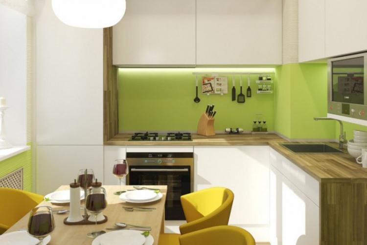 Освещение и подсветка - Дизайн кухни 7 кв.м.