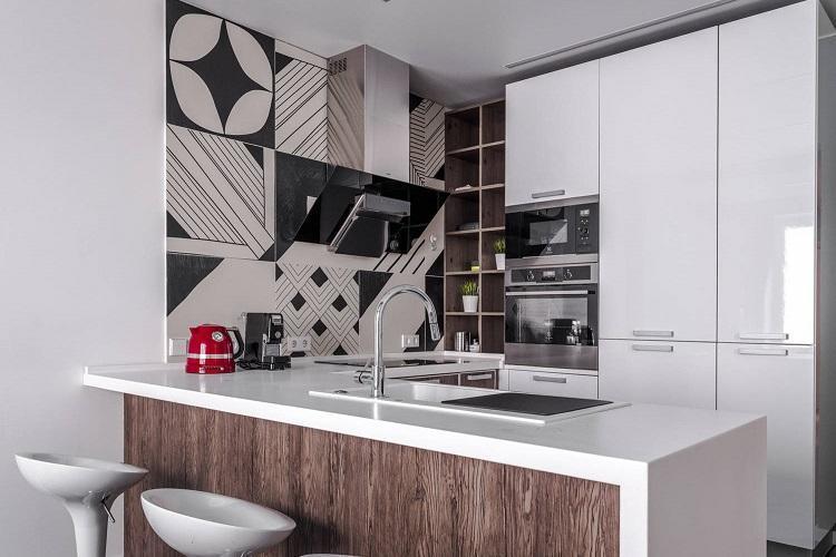 Кухня 8 кв.м. в стиле минимализм - Дизайн интерьера
