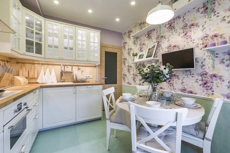Кухня 8 кв.м. в стиле прованс - Дизайн интерьера