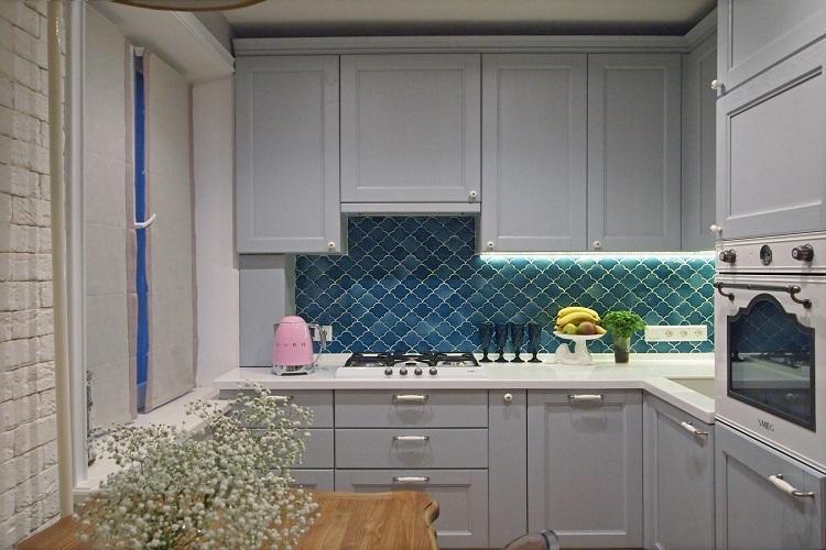 Кухня 8 кв.м. в стиле неоклассика - Дизайн интерьера