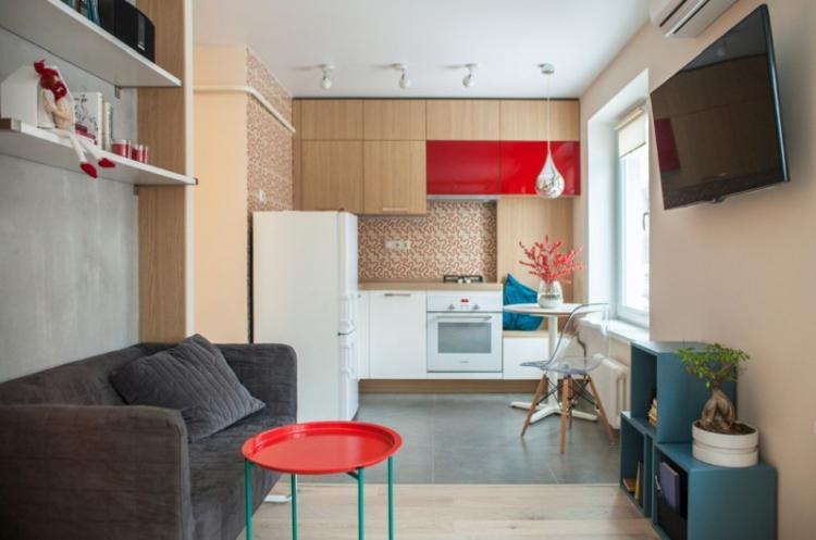 Коричневая кухня 8 кв.м. - Дизайн интерьера