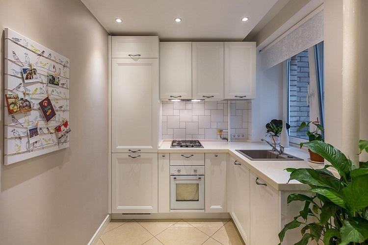 Отделка пола - Дизайн кухни 8 кв.м.