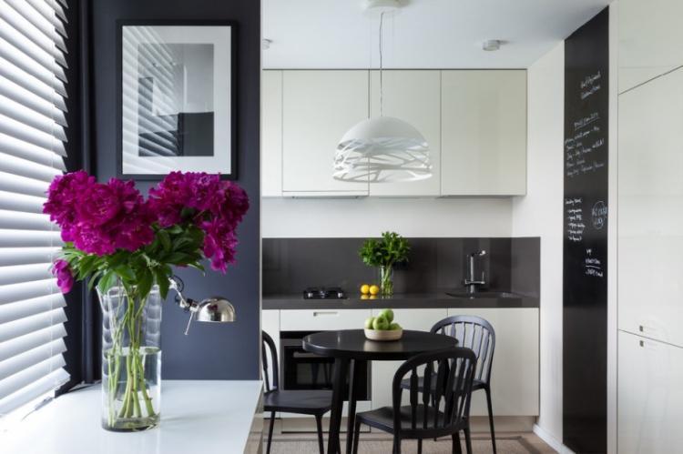 Отделка стен - Дизайн кухни 8 кв.м.