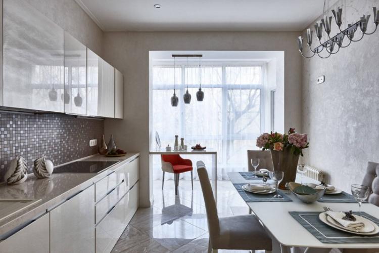 Объединение и перепланировка - Дизайн кухни 9 кв.м.