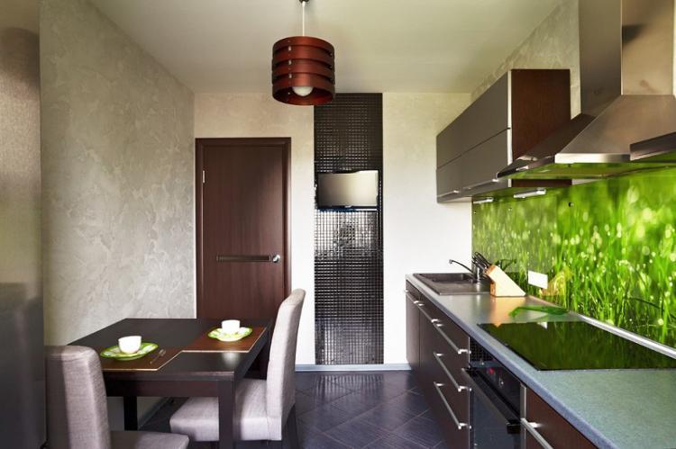 Отделка стен - Дизайн кухни 9 кв.м.
