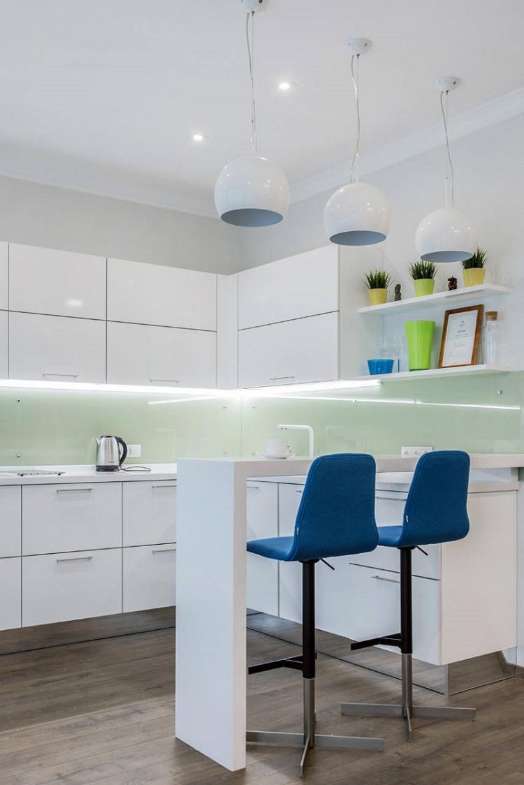 Барная стойка - Дизайн кухни 9 кв.м.
